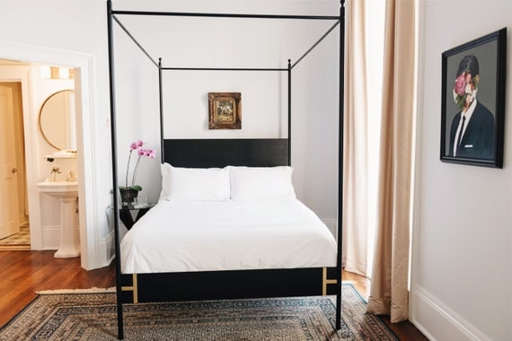 Black Four Poster Bed: Josephine Bed Four Poster King Or Queen Black Iron Canopy Bed