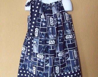 Star Wars Dress, Star Wars Pillowcase Dress, Girls Dress with Star Wars Characters, Toddler Dress, Baby Dress, Girls Sizes 6 mos to 14