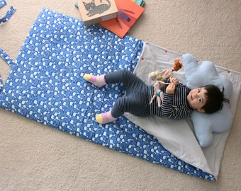 Kids' and toddlers sleeping bag. Organic cotton. Great for kindergarden, sleepovers or napping at home.