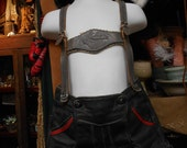 Small Childs Lederhosen Leather Shorts