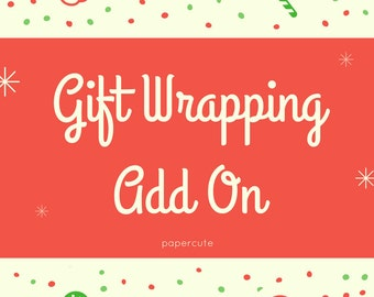 Gift Wrap - Gift Wrapping Add On - Gift Set Wrapping - Gift Box Set - Christmas Gift Wrap - Birthday Gift Wrap - Packaging Wrap Up