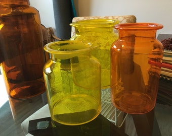 Hand Blown Glass Apothicary Jars