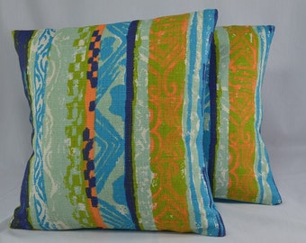 "Midcentury Pillow Cover Cushion Cover Vintage Pillow Retro Pillow Geometric Pillow - 16"" Pillow Cover"