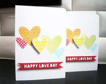 Valentine's Day Card, Heart Card, Happy Love Day