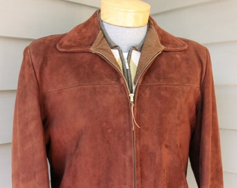 vintage 1950's -McGregor- Deerskin suede jacket. Lined & insulated. Tobacco Brown. Size 40. A cleaning will restore to near 'NeW'
