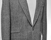 Vintage MENS HARRIS TWEED Jacket With Watch Pocket Size 40 Tweed Herringbone Blazer Multi Grey Herringbone Coat Size 40 Great Condition