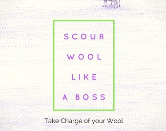 Scour Like A Boss - How to wash wool fiber - alpaca - wool- spin yarn - raw wool - art yarn - batt