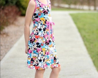 Lily Bird Studio PDF sewing pattern Rinna's dress for girls -  1 to 10 years