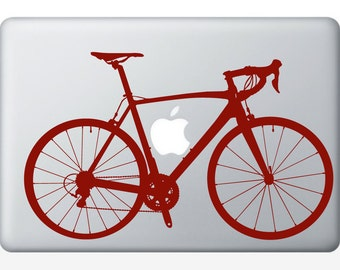 Road Bike laptop DECAL- macbook iPad computer- vinyl sticker- bicycle
