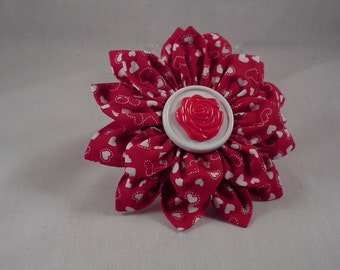 Valentine's Day Flower hair clip