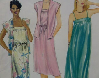 BANDED DRESS Pattern • Butterick 3734 • Miss 8-10 • Sleeveless Dress • Dress & Jacket • Gathered Dress • Vintage Patterns • WhiletheCatNaps
