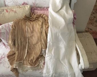 Antique Mesh Silk Top and Long Skirt