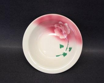Vintage Albert Pick Restaurant China Airbrushed Rose Bowl (E7650)