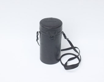 Vintage Canon Leather Lens Canister or Case with Zoom Lens 70-210 mm