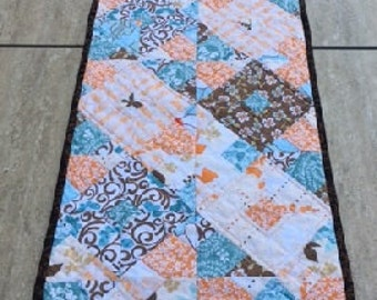 Quilted Table Runner, Mediterranean Flowers SALE