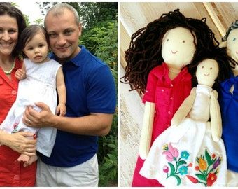 Personalized doll made by photo, Handmade custom dolls, Family, Mother, Father, Children, Child, Newborn baby, Gift for any occasion