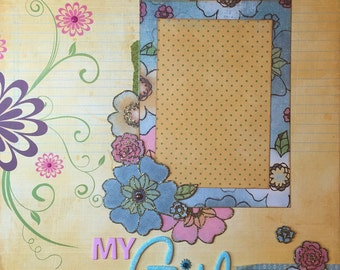 My Girl - 12x12 Premade 1 Page Scrapbook Layout