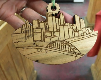 Pittsburgh Skyline ornament from our Peculiar Pittsburgh series