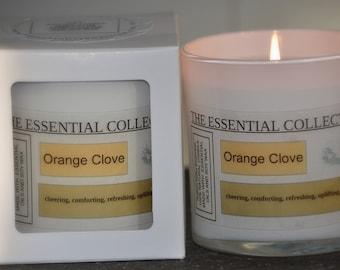 NATURAL ORANGE CLOVE Soy Wax Candle The Essential Collection