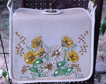 Enid Collins Canvas Purse, Collins Daisy Craze, Collins Jeweled Bag, Collins of Texas Handbags, Daisy Craze Purse