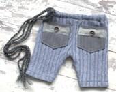 Newborn Boys Pants. Prop Pants. Baby Boys Knitted Pants.Baby Trousers. Newborn Knit Pants. Rustic Pants. Newborn Photography Prop.UK SELLER