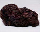 Single Ply Yarn Merino Slub Hand Dyed 44sp15027 Goth Rouge