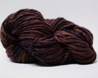 Single Ply Yarn Merino Slub Hand Dyed 44sp15027 Goth Rouge