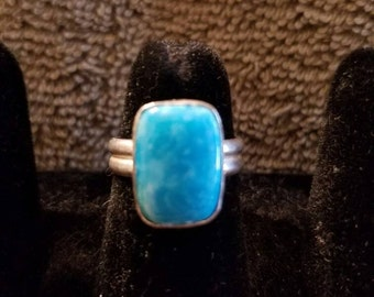 AZ Turquoise ring in .925 sterling silver size 6.5