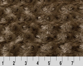 Mocha - Rose Cuddle by Shannon Fabrics - by the Half Yard or Yard