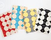 Fat Quarter Bundle Suzuko Koseki French Small Dot, 4 Pieces, Yuwa Fabric, 100% Cotton Japanese Fabric