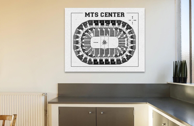 Vintage Print MTS Center Winnipeg Jets Arena On Photo