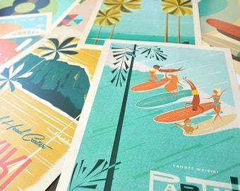 THE PICK 5 - Choose FIVE 12x18 Retro Hawaii Travel Prints