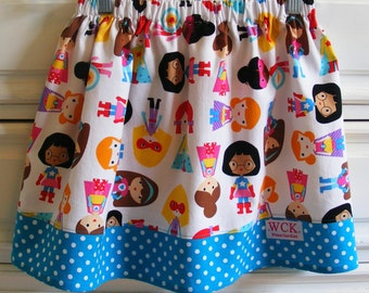Super  Girls  Skirt  in white ( 18 mos, 24 mos, 2T, 3T, 4T, 5, 6, 7, 8, 10)