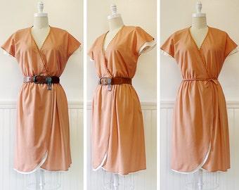 Vintage 1970s Dress --> 1970s Wrap Dress --> Vintage 70s Dress --> Flutter Sleeve Dress --> 1970 Dress --> Vintage Dress --> 1970s Summer
