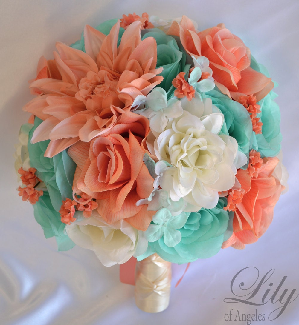 17 piece bridal package wedding bouquet bouquet set silk zoom dhlflorist Gallery