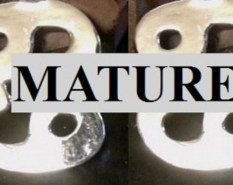 Mature 69 Cufflinks Solid Sterling Silver Free Shipping