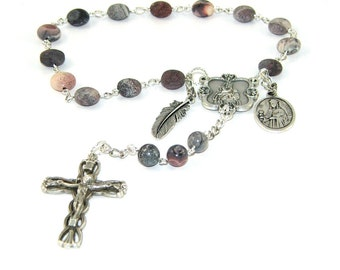 Saint Barbara Chaplet Rosary, Patron Saint Prayer Beads