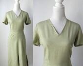Vintage Dress, 1950s Dress, Green Vintage Dress, Alison Ayres, 50s Summer Dress, Green Summer Dress, Linen Dress, Retro Green Dress, 50s