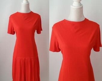 Vintage Dress, Vintage Red Dress, 60s Red Dress, 1960s Dress, Flapper Style Dress, Red Flapper Dress, 60s Mod Dress, 1920s Style Dress