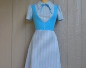 Vintage 60s SCHOOL GIRL BLUES Dress