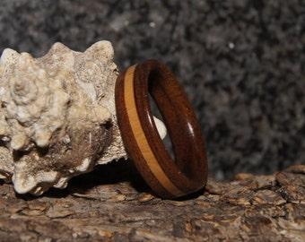Ipe & Olive Wood Ring - Size 11