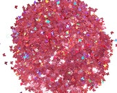Rose SOLVENT RESISTANT Holographic Glitter BUTTERFLIES - Pink Nail Glitter for Glitter Nail Art, Glitter Nail Polish & Glitter Crafts