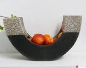 Ceramic Raku Plate - Fruit Bowl