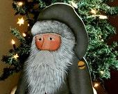 RESERVED LISTING for  ELAINE R> Large wooden Santa, folk art Santa,Father Christmas, Prim Santa,Christmas decor, Prim Christmas decor,