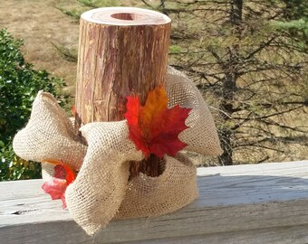 Thanksgiving Decor, Fall Home Decor,  Burlap & Fall Leaves Decor,