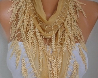 Mustard Cotton Scarf ,Christmas Gift,Fall Scarf, Necklace Shawl Cowl Bridesmaid Gift Gift Ideas For Her Women Fashion Accessories Scarves