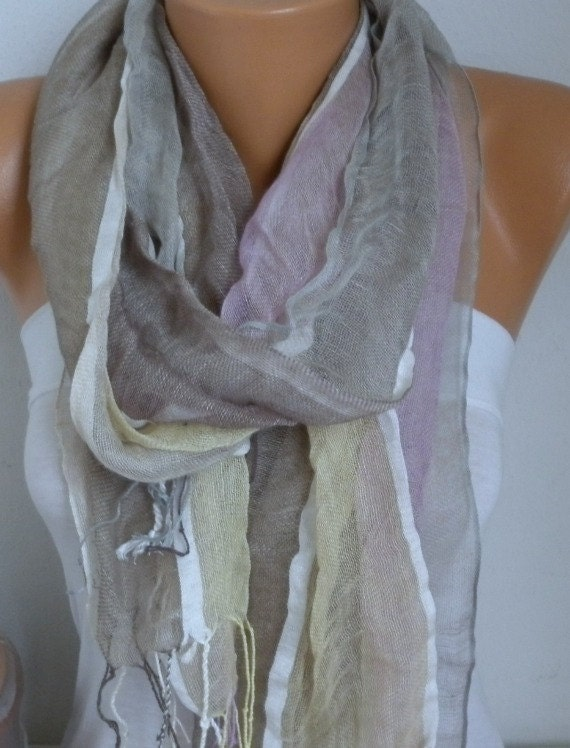 Pastel Tones Cotton Scarf,Summer Shawl,Pareo,Christmas Gift, Gift Ideas For Her Women Fashion Accessories Women Scarves