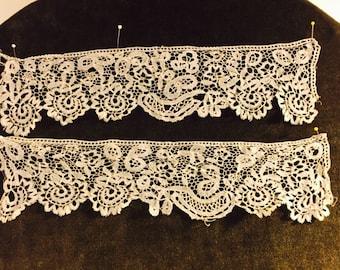 Antique Honiton lace cuffs