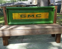 GMC vintage tailgate bench