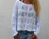 Fancy Loose Open Knit Sweater.
